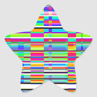 Re-Created Urban Landscape Star Sticker