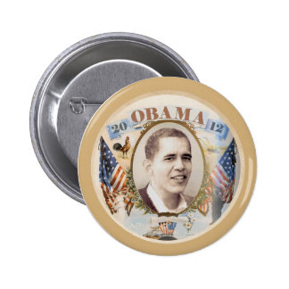 Re-Elect Barack Obama 2012 Pinback Buttons