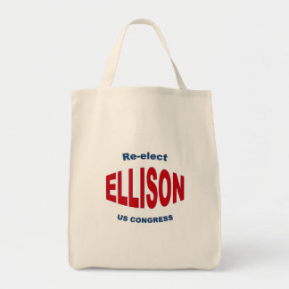 Re-elect Keith Ellison for Congress 2012 Minnesota Grocery Tote Bag