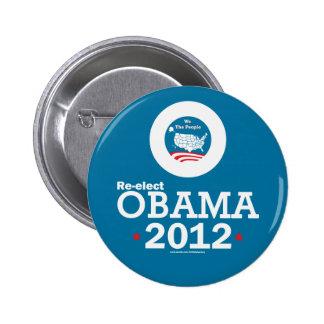 Re-elect Obama 2012 6 Cm Round Badge
