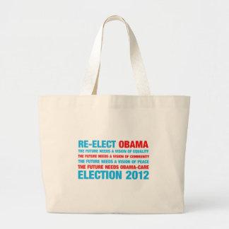 Re-Elect Obama 2012 Tote Bags