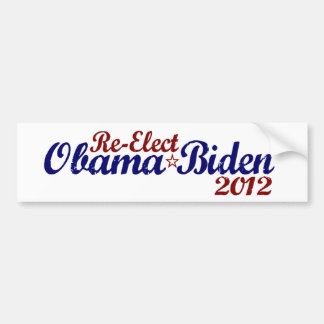 Re-Elect Obama Biden 2012 Bumper Sticker