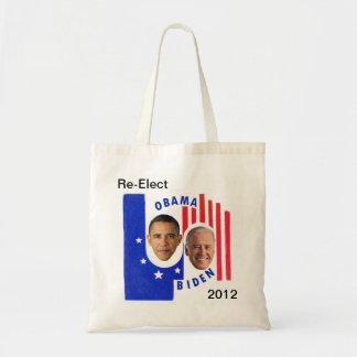 Re-Elect Obama Biden 2012 Canvas Bags