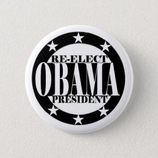 Re-Elect Obama President 6 Cm Round Badge