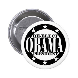 Re-Elect Obama President 6 Cm Round Badge