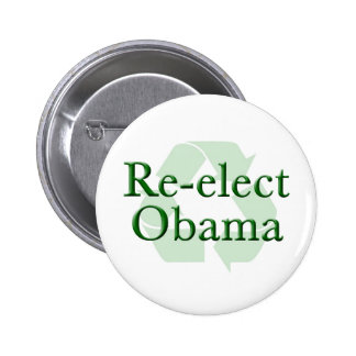 Re-Elect Obama Recycle Button