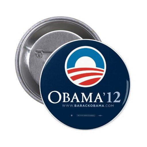 Re-Elect President Barack Obama 2012 Pinback Button