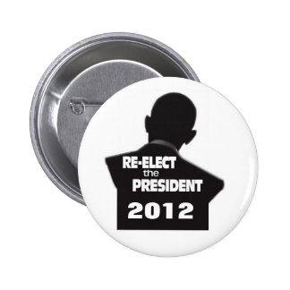 Re-elect President Obama 6 Cm Round Badge