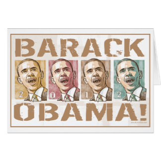 Re-Elect President Obama Election 2012 Card