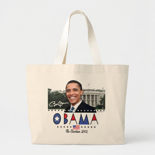 Re-Elect President Obama Election 2012 Gear Canvas Bags
