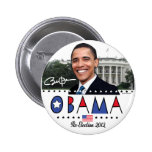 Re-Elect President Obama Election 2012 Gear Pin