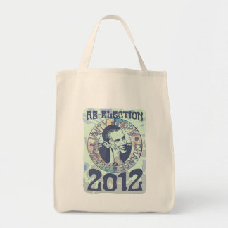 Re-Elect President Obama Election 2012 Gear Canvas Bag