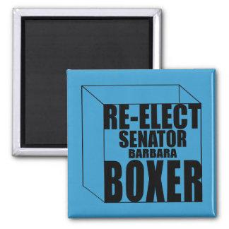 Re-Elect Sen. Boxer Square Magnet
