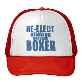 Re-Elect Senator Barbara Boxer Trucker Hat