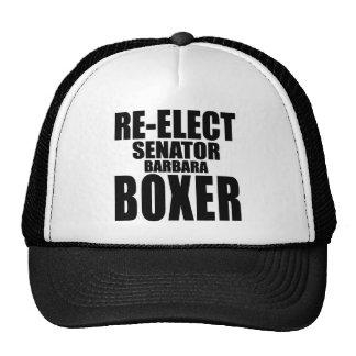 Re-Elect Senator Barbara Boxer Cap