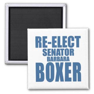 Re-Elect Senator Barbara Boxer Square Magnet