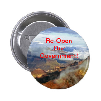 Re-Open Our Government Button, Pin