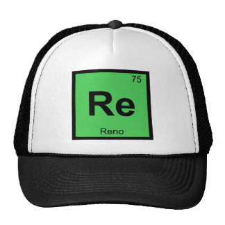 Re - Reno Nevada Chemistry Periodic Table City Cap