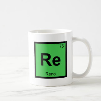 Re - Reno Nevada Chemistry Periodic Table City Coffee Mug