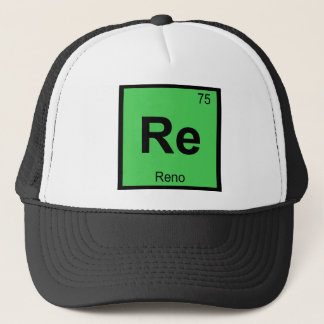 Re - Reno Nevada Chemistry Periodic Table City Trucker Hat