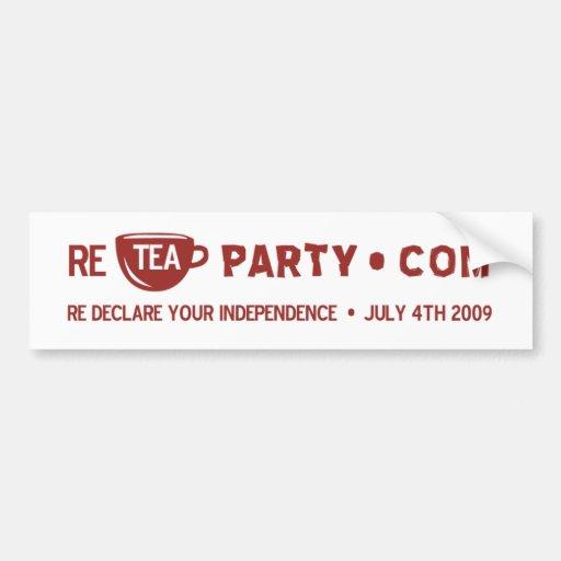 Re Tea Party Bumper Stickers