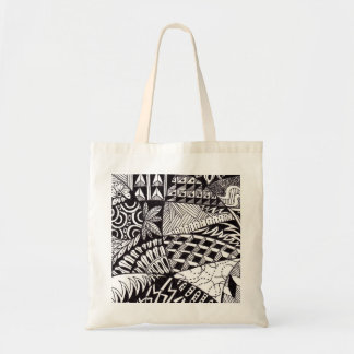 Re-usable stock market of purchases tote bag