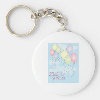 Reach for the clouds key chains