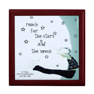 Reach for the Stars and the Moon Custom Large Square Gift Box