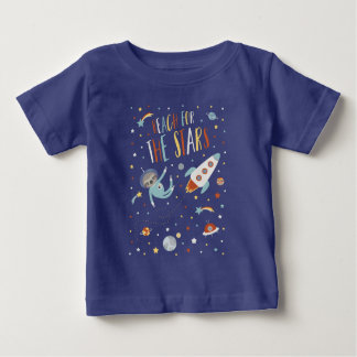 Reach for the Stars - Space Sloth Baby T-Shirt