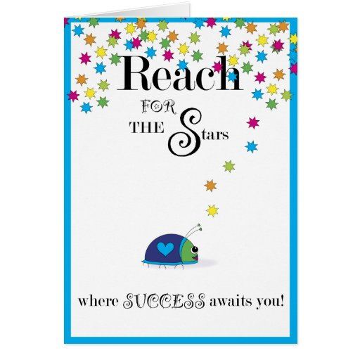 Reach for the Stars Success Greeting Cards