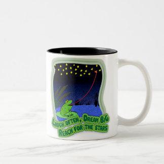 reach for the stars Two-Tone mug