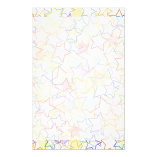 Reach for the Stars Writing Paper Customized Stationery