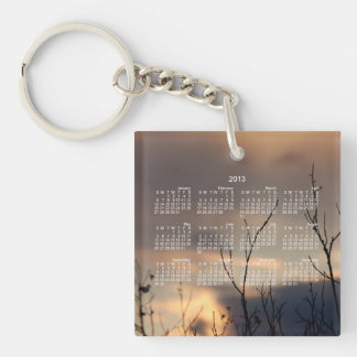 Reach for the Sunset; 2013 Calendar Single-Sided Square Acrylic Key Ring