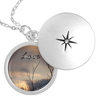 Reach for the Sunset; Customizable Round Locket Necklace