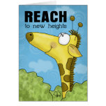 Reach to New Heights Giraffe Greeting Card