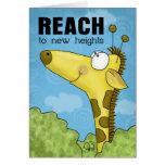 Reach to New Heights Giraffe Greeting Card