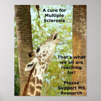 Reaching ~ an MS Awareness Poster