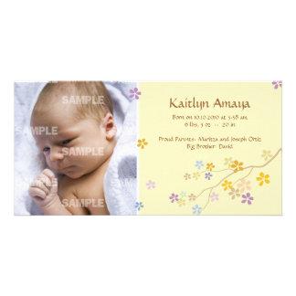 Reaching Branch Baby (Lemon) Customized Photo Card