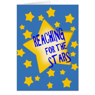 Reaching For The Stars Blank Greeting Card