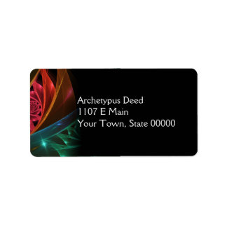 Reaction Abstract Geometric Fractal Address Label
