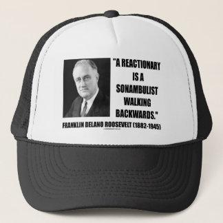 Reactionary Sonambulist Walking Backwards Trucker Hat