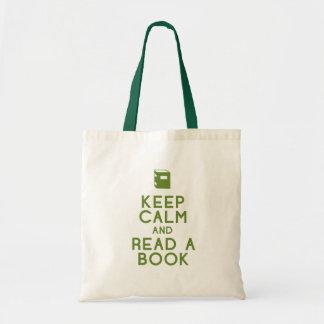 Read a book budget tote bag