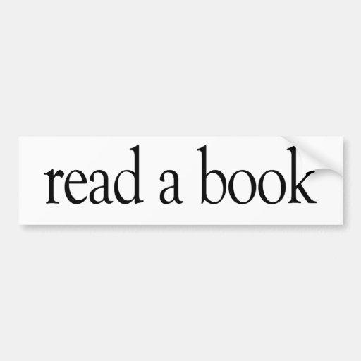 Read A Book Bumper Stickers