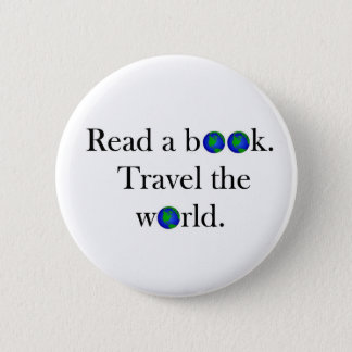 Read a book Travel the World 6 Cm Round Badge