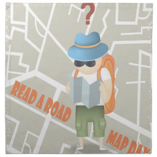 Read A Road Map Day Cloth Napkins