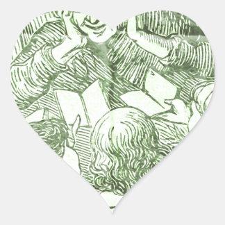 read a Story Heart Sticker