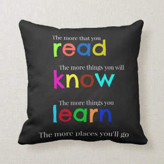 Read and learn cushion