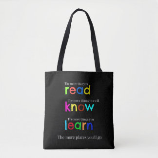 Read and learn tote bag