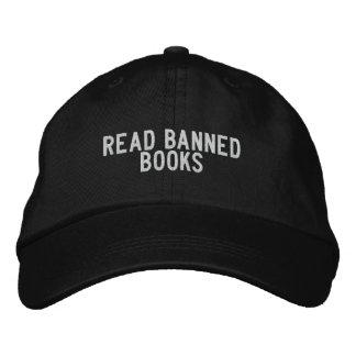 read banned books baseball cap