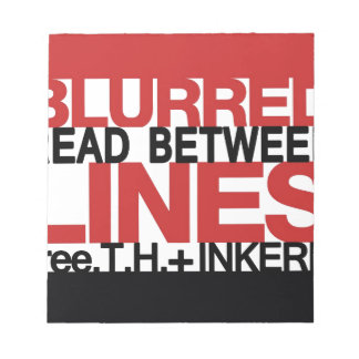 Read Between the Bl urred Lines Memo Note Pad